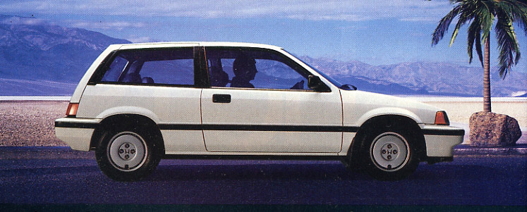 1986 Honda Civic Si hatchback.