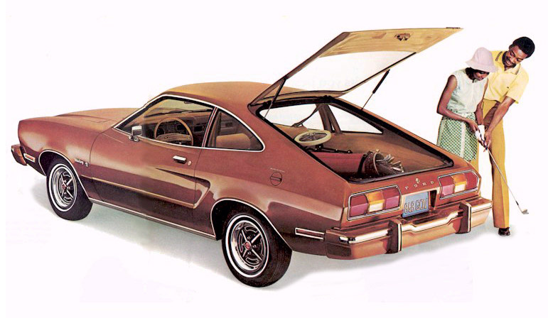 1975 Ford Mustang-II hatchback.