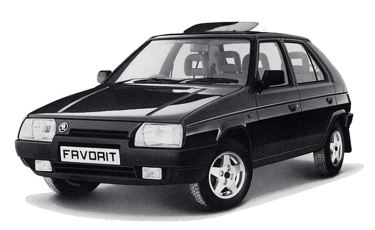 1990 Skoda Favorit.