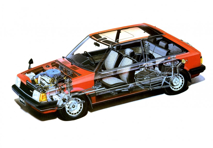 1980 Mazda Familia cutaway