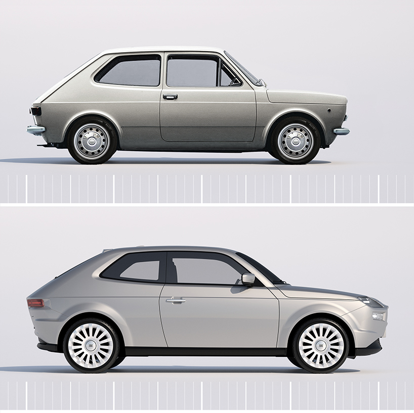 1971 Fiat 127 and 2013 David Obendorfer Fiat 127 concept.